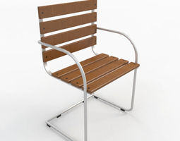 wood realistic Chair 3D