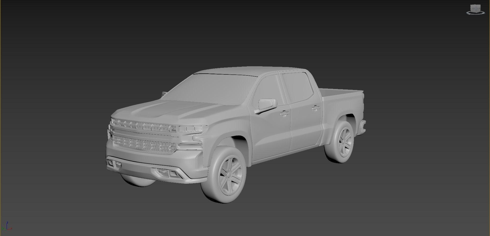 Chevrolet Silverado 2020 on a small scale