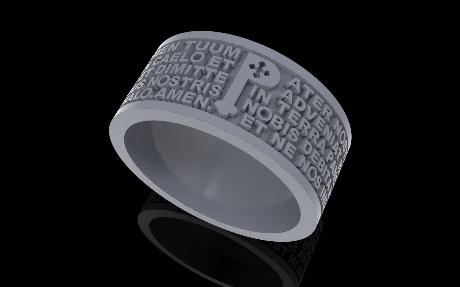 Christen Pater Noster  Our Fathers Prayer  ring