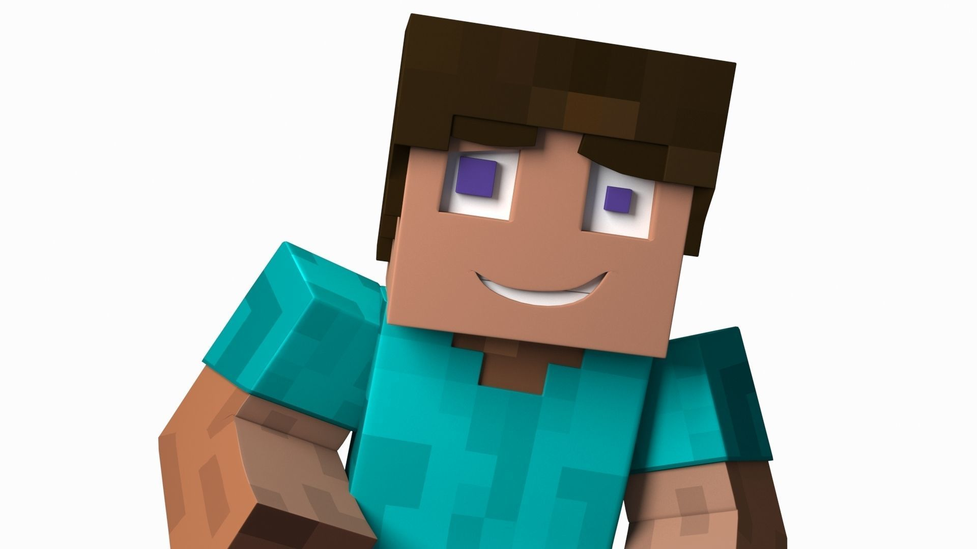 3d Minecraft Steve Character Cgtrader