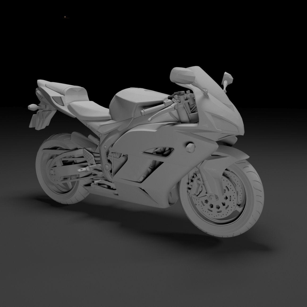 Honda CBR 1000RR Fireblade 3D Printable Model
