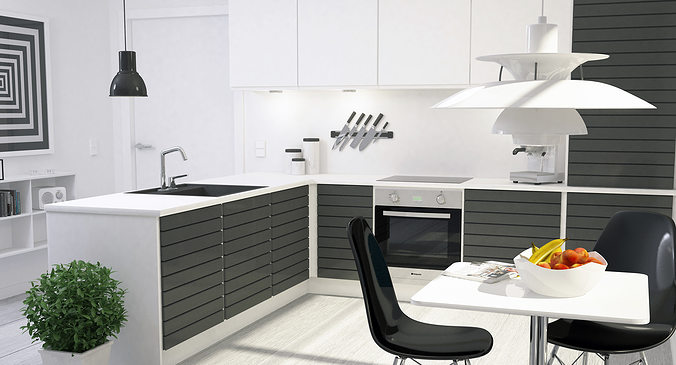 Modern Kitchen Interior 001 3d Model Max Obj Fbx Dxf Dwg 3 Part 62