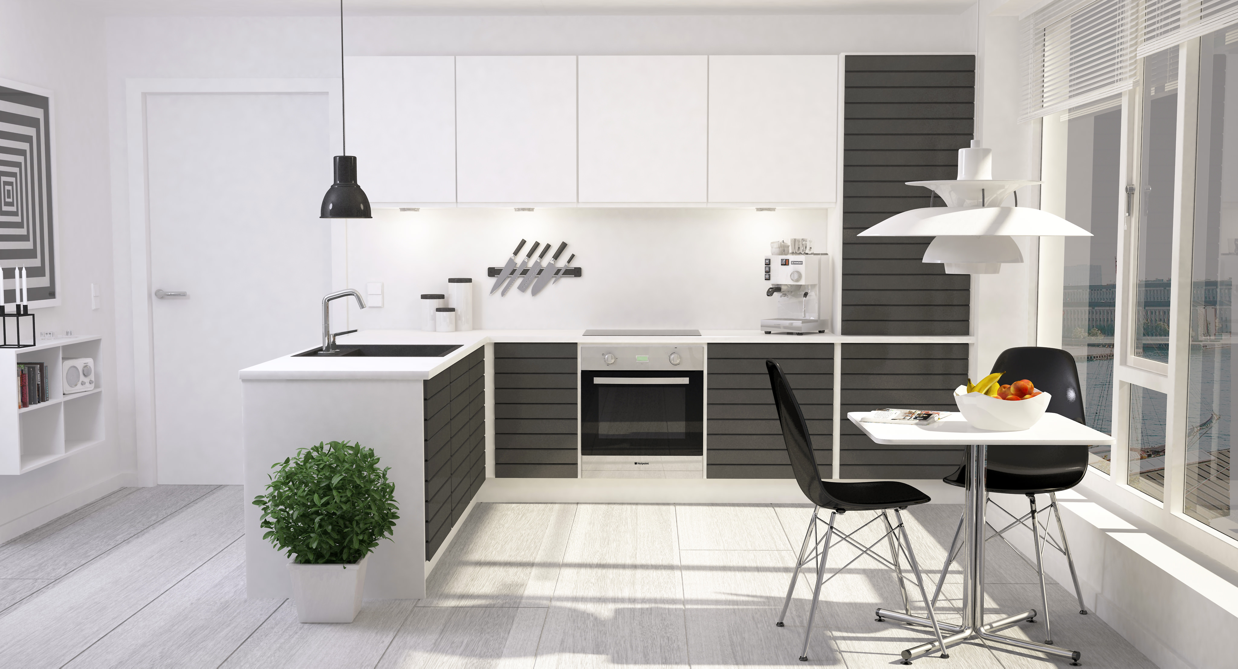 Modern Kitchen Interior 001 3d Model Max Obj Fbx Dxf Dwg 2