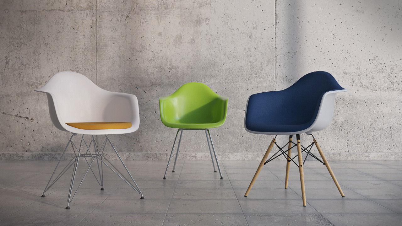 Sedia A Dondolo Rar Eames : Vitra rar. perfect eames rar rocking chair yellow lime u charles ray