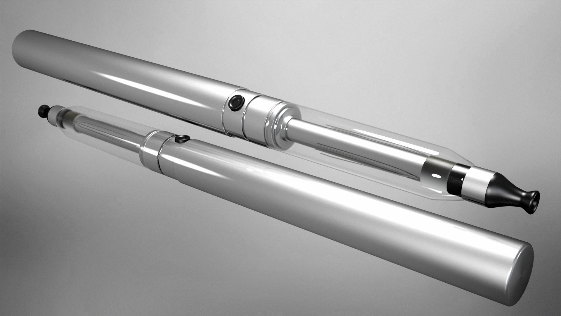 Electronic Cigarette Vapour 3D Model MAX OBJ 3DS FBX DXF ...