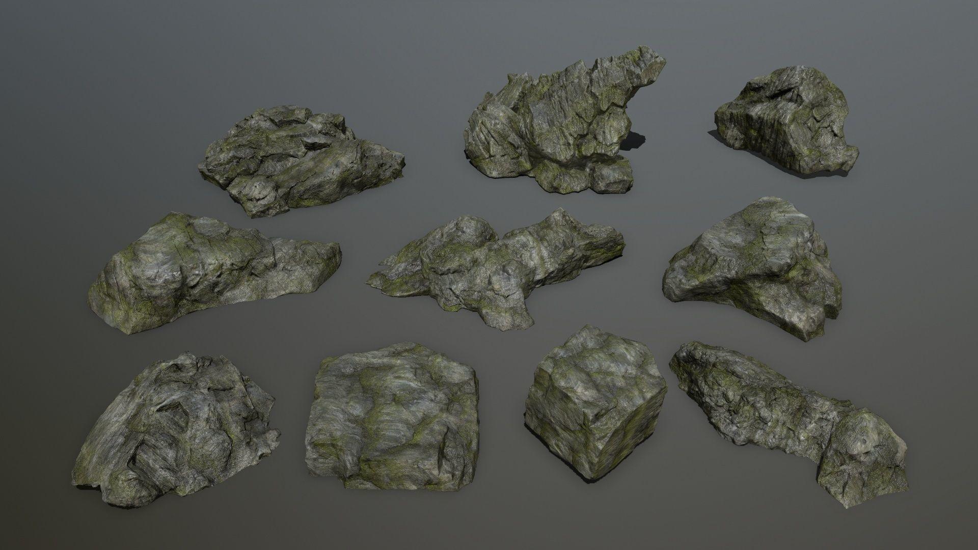 cliff rock set 1