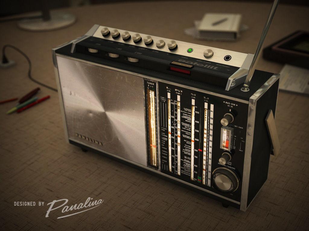 Panalina Vintage Radio Satellit 1968