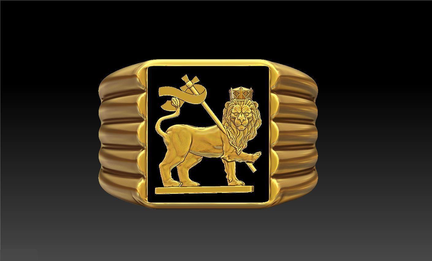 Lion Flag Ring