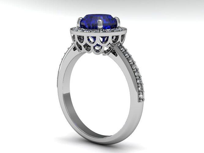 diamond ring creative 01 3d model 3dm