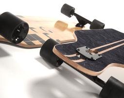 realistic longboard 3d
