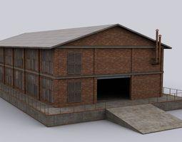3D model Brick hangar