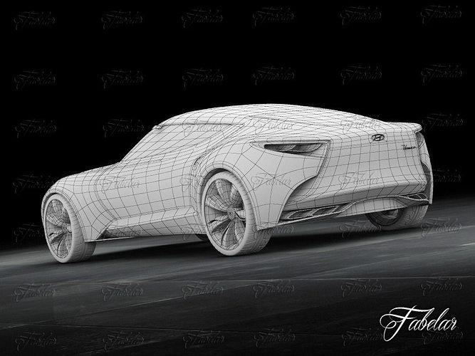 Hyundai hnd 9 and garage 3d model rigged max cgtrader com