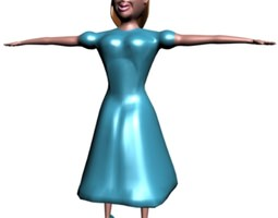 Girl in blue 3D model