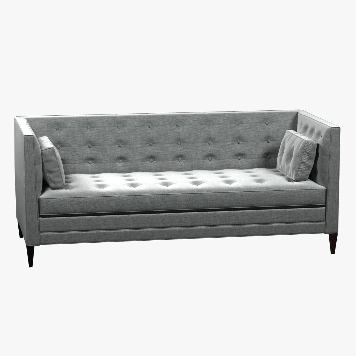 Clancy Tufted Upholstered Sofa In Vangogh Fog 3d Model Max Obj 3ds Fbx Mtl  ...