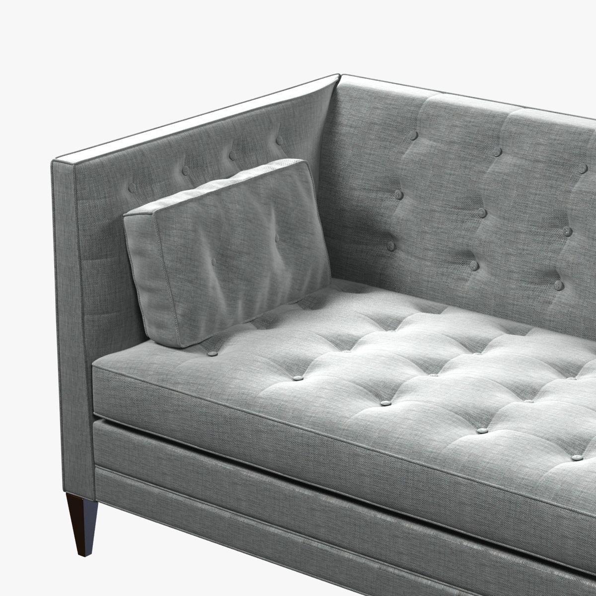 CLANCY TUFTED UPHOLSTERED SOFA IN VANGOGH FOG D Model MAX OBJ DS - Tufted upholstered sofa