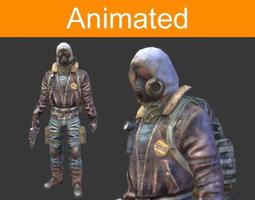 Character Postapocalyptic 3D model