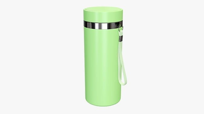 Thermos vacuum bottle 01 green