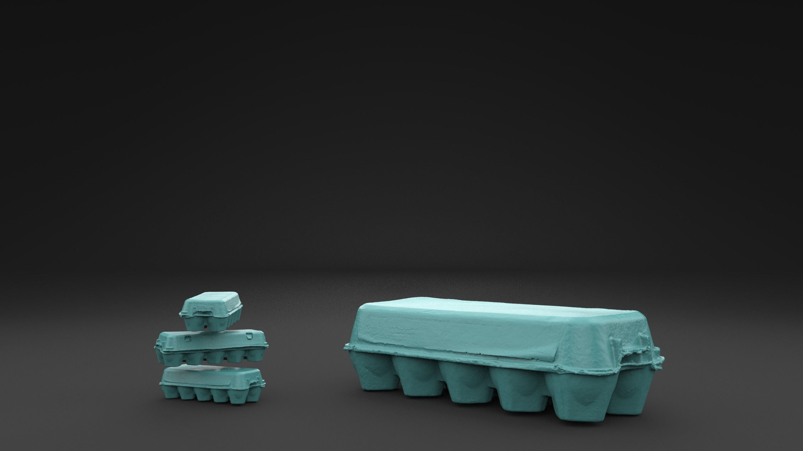 Scanned Egg Tray 3D Print Model