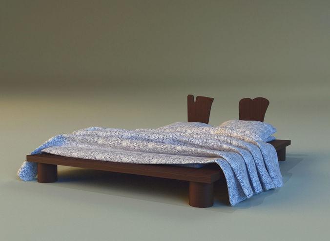 Bed chalets 3d model max obj 3ds fbx mtl for 3ds max bed model