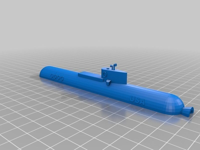Desktop submarine miniature free 3d model 3d printable stl 3d printer models free