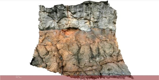 volcanic rock scenario ii 3d model low-poly obj mtl ply 1