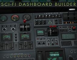 3D Sci-Fi Dashboard Builder