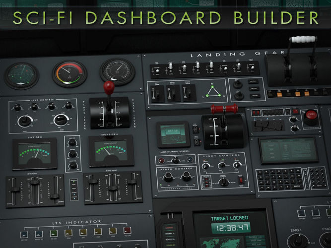 sci-fi dashboard builder 3d model max obj mtl fbx ma mb pdf 1