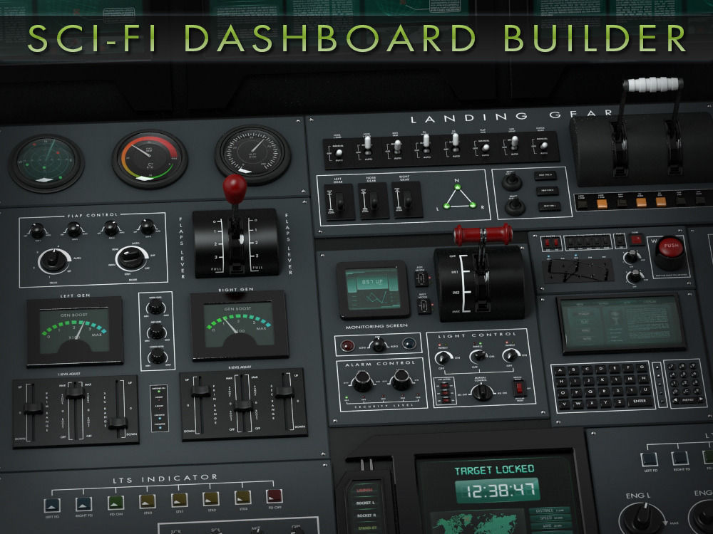 Sci-Fi Dashboard Builder