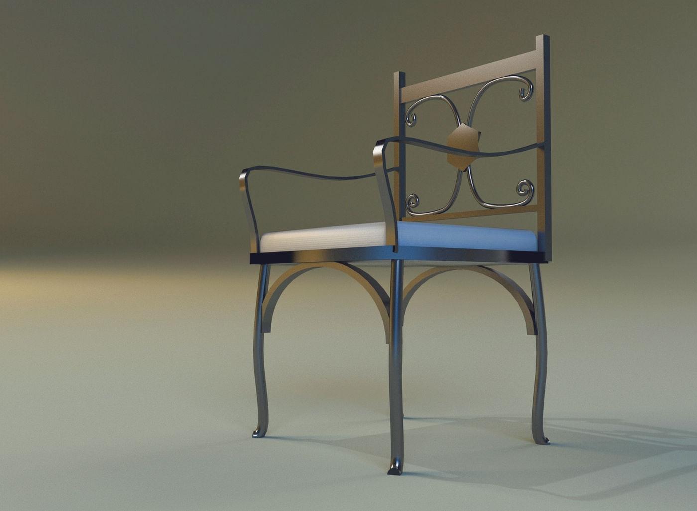 chair metal kitchen ii 3d model max obj 3ds fbx