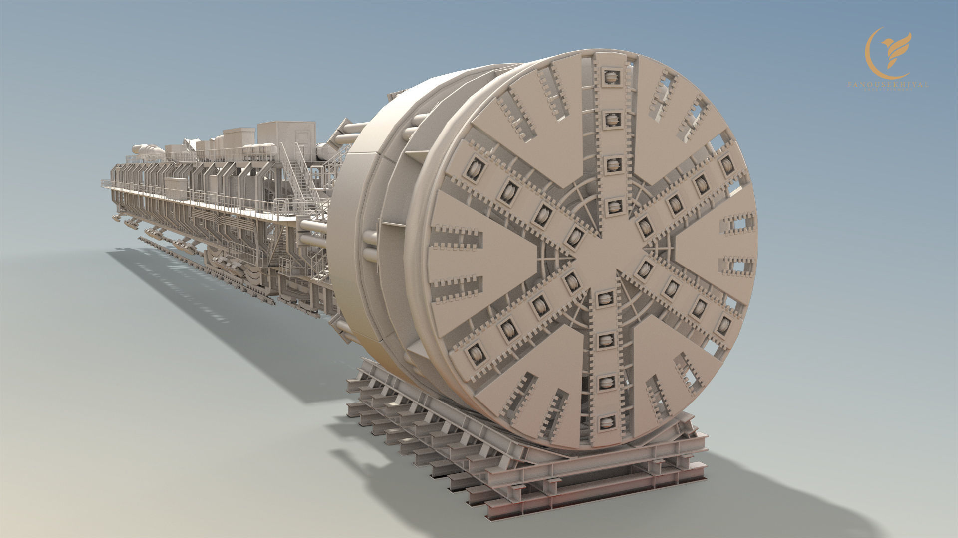 TBM-High detail Tunnel Boring Machine
