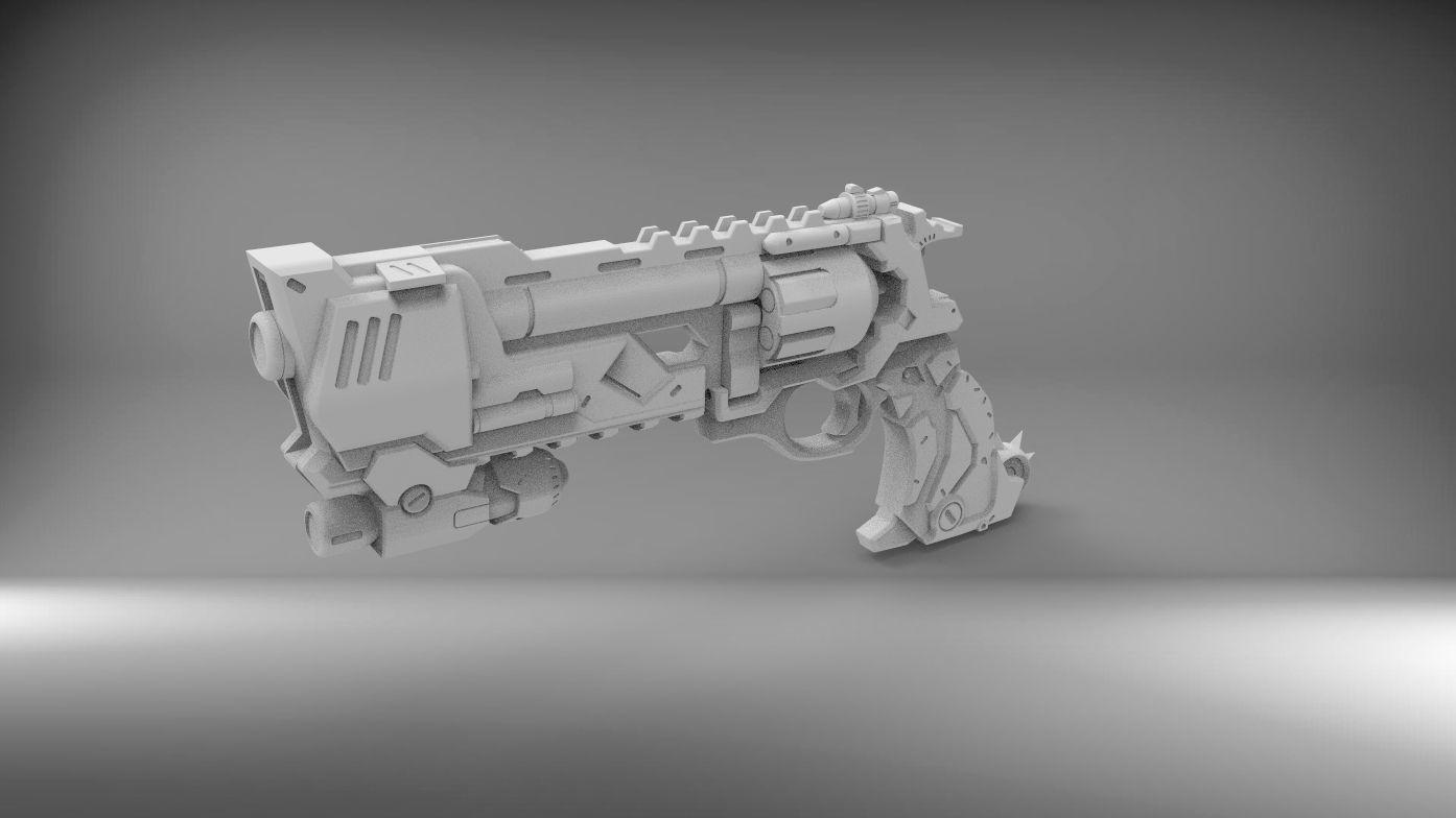 Mccree Deadlock weapon 3D PRINTABLE FILES