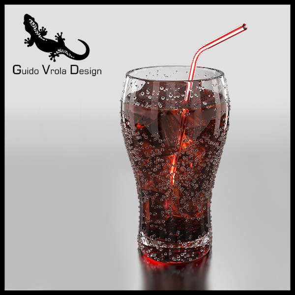 Fresh cola glass