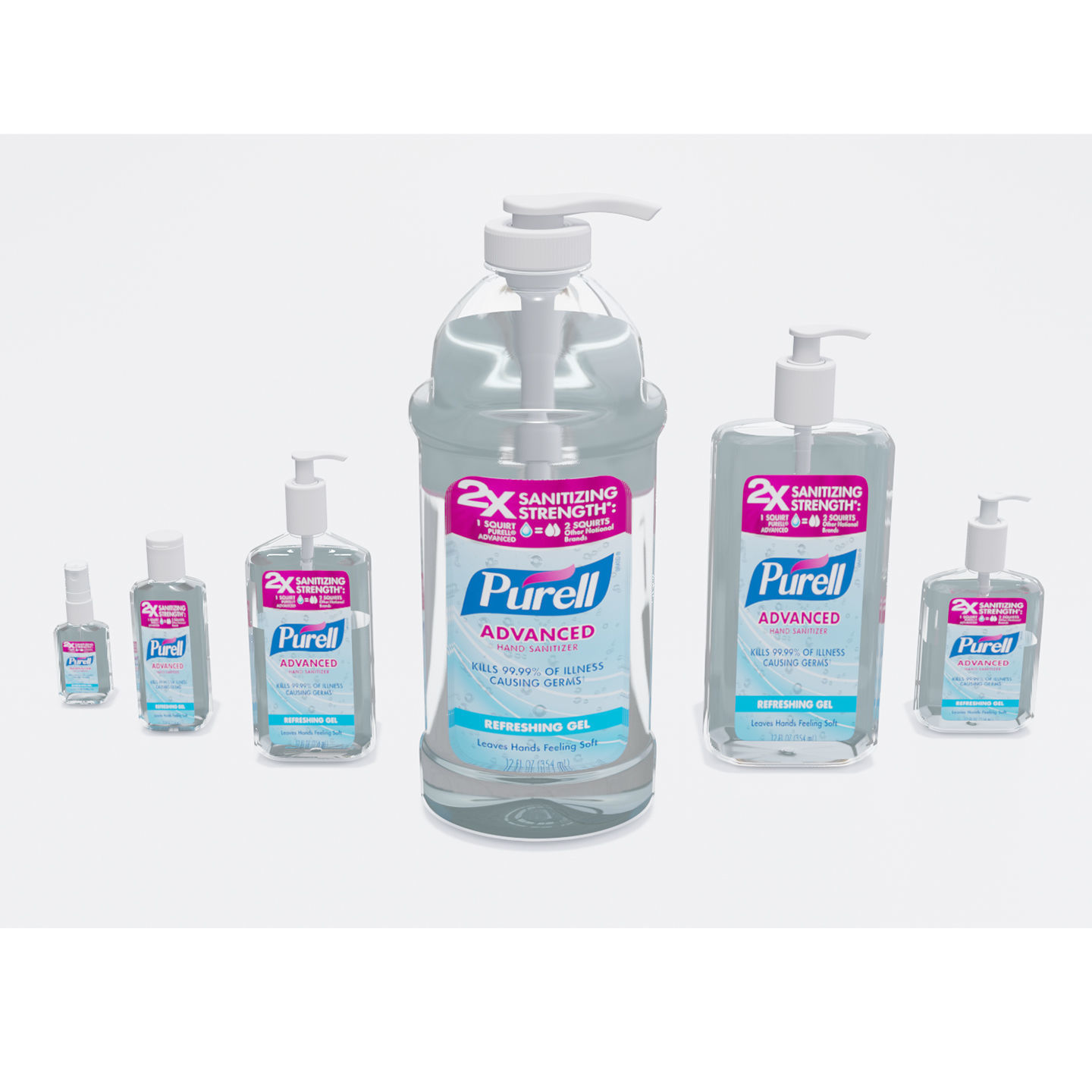 Bottles With Antiseptic Disinfectant