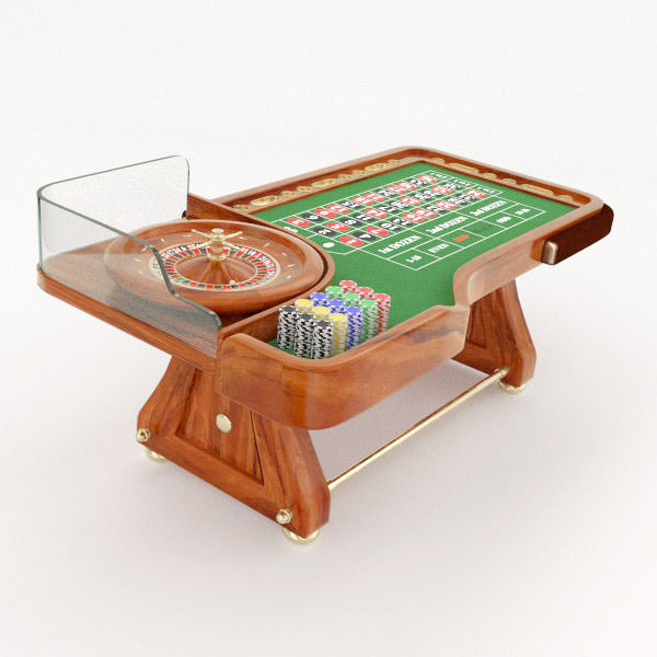 3D model Roulette Table CGTrader