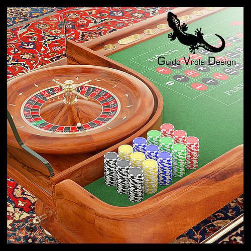 roulette table 3d model obj 3ds blend mtl 1