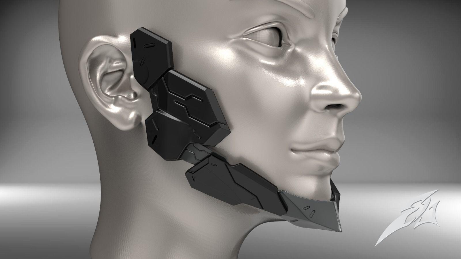 Cyborg Jaw Armor Wearable