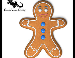 3D model Gingerbread man