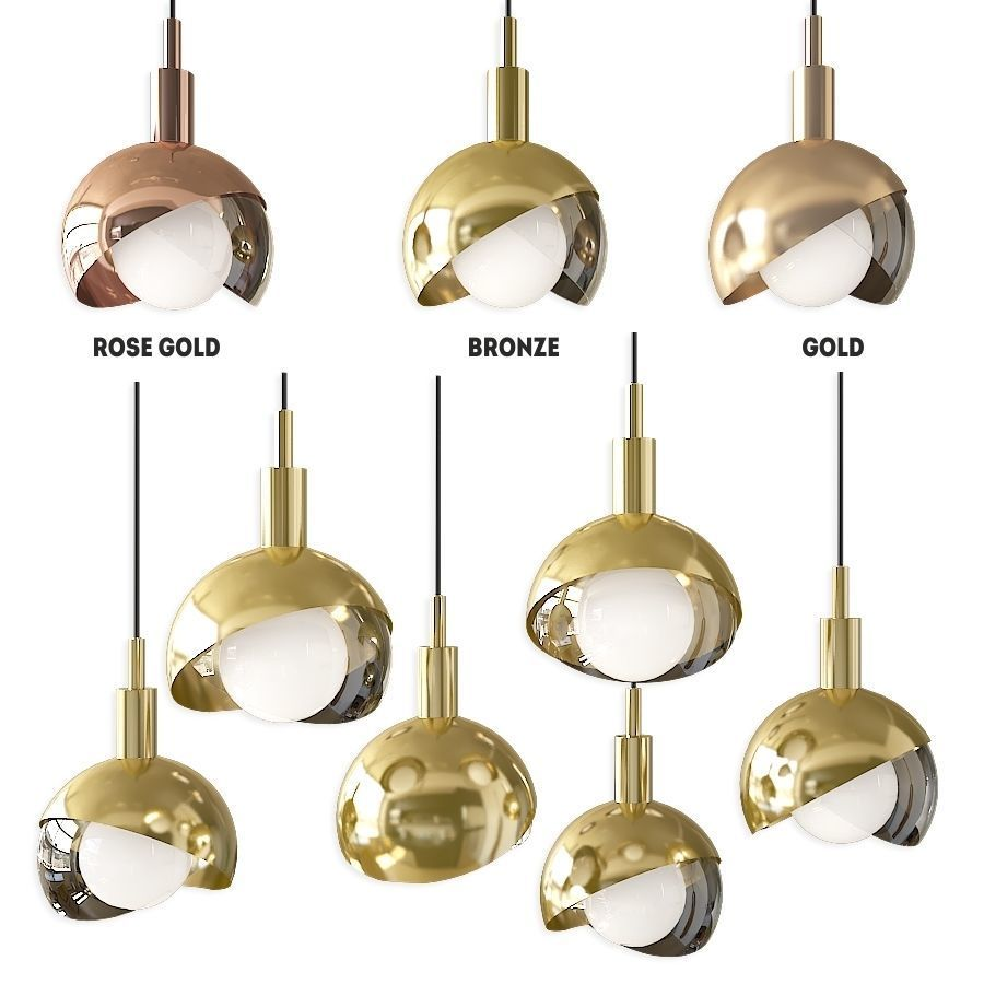 Pendant lamp Half Closed Balls