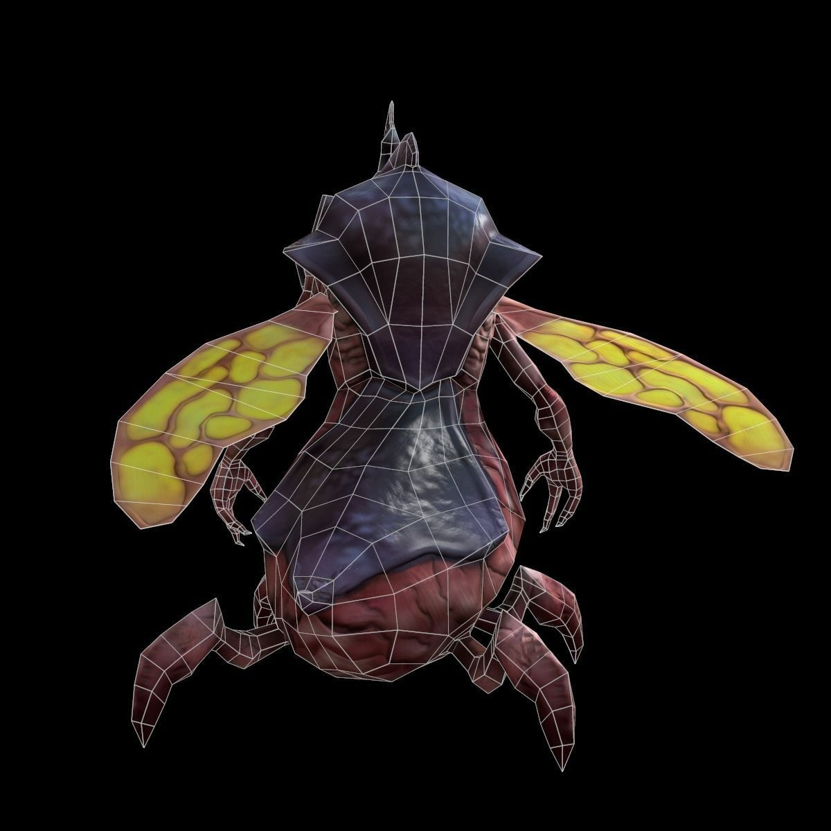 3D model Flying Insect VR / AR / low-poly animated MAX 3DS ...