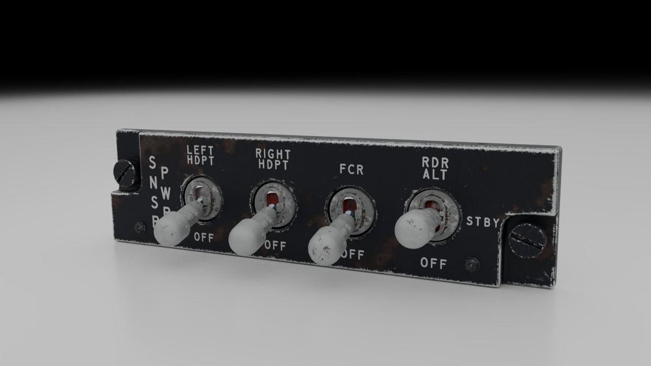 F16 Sensor Power Management Panel - SNSR PWR