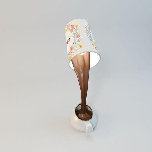 Table lamp vray 3d model obj 3ds fbx c4d mtl for Table design 3d model