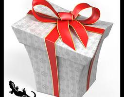 cartoon style gift box 3d