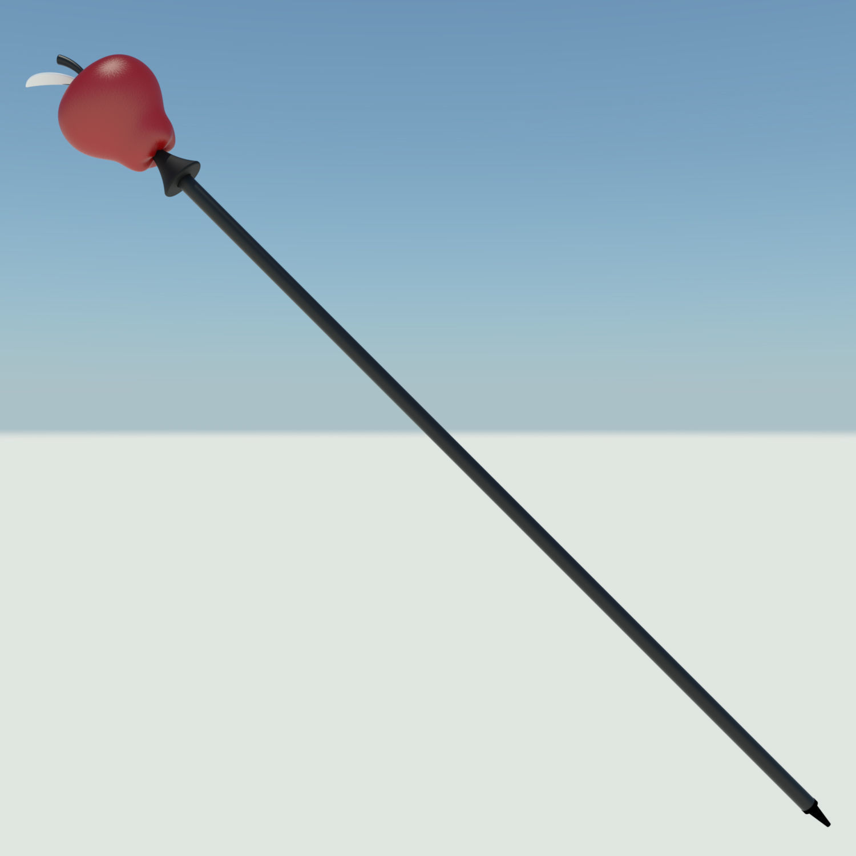 Hazbin Hotel Lucifer apple scepter
