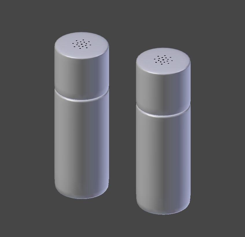 salt and pepper shakers. Salt And Pepper Shaker 3d Model Obj 3ds Fbx Dae Mtl 5 Shakers