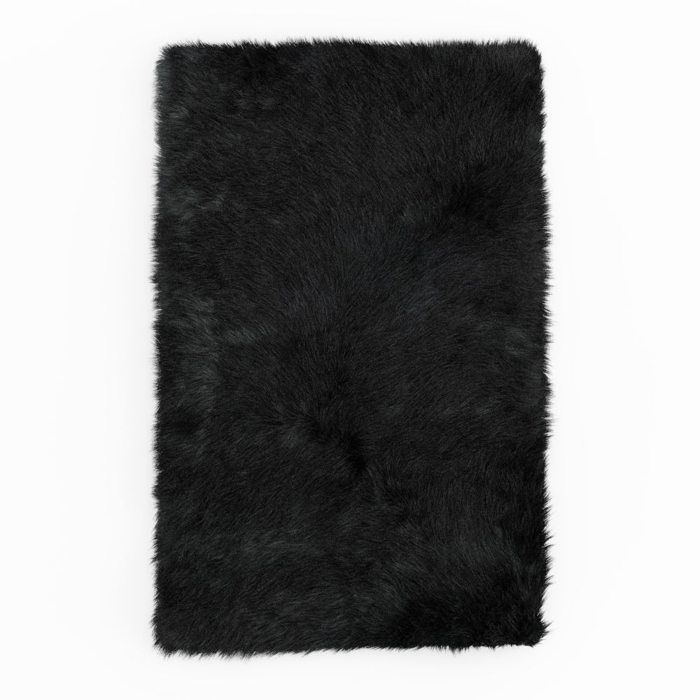 Shaggy Sheepskin Black Rug