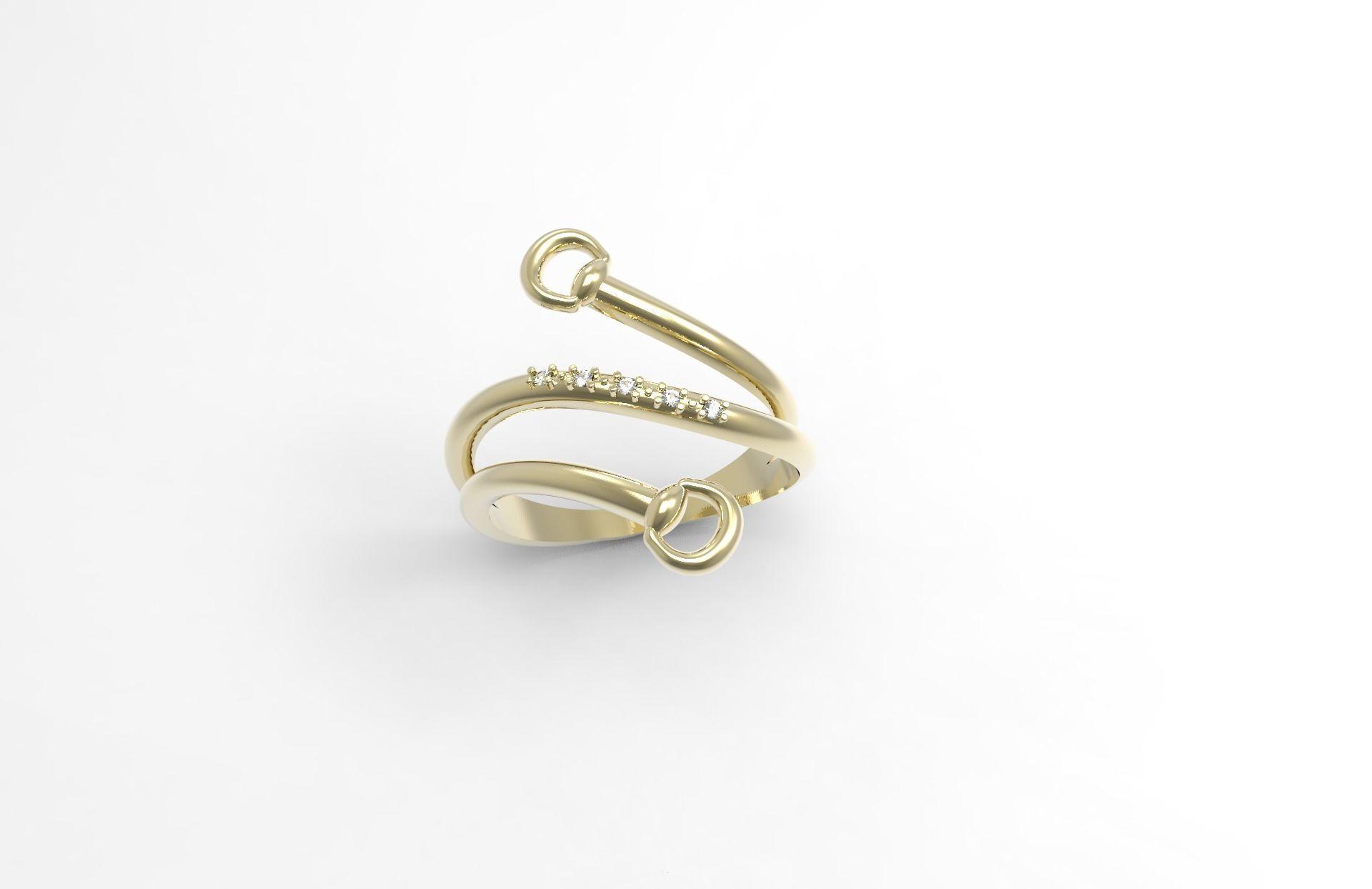 Ring horse equestrian 3D print model