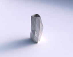3d printable model vase twist triangle with triangle plates