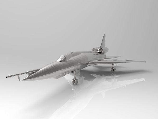 tupolev tu-22 soviet bomber 3d ready 3d model stl 1