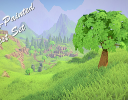 VR / AR ready 3d asset painted forest pack
