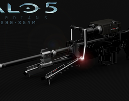 3d printable model halo 5 sniper rifle